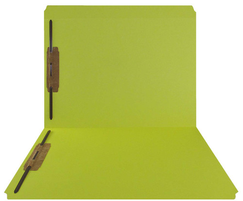 Yellow Top Tab Folder - Smead Compatible - 11Pt. Top Tab Reinforced Full Cut Tab - Bonded Fasteners 1&3 - Letter Size - 50/Box