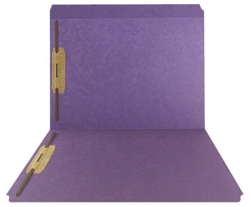 Purple Top Tab Folder - Smead Compatible - 11Pt. Top Tab Full Cut Reinforced Tab - Bonded Fasteners 1&3 - Letter Size -50/Box
