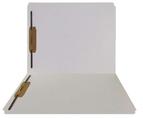 White Top Tab Folder - Smead Compatible - 11Pt. Top Tab Reinforced Full Cut Tab-  Bonded Fasteners 1&3 - Letter Size - 50/Box