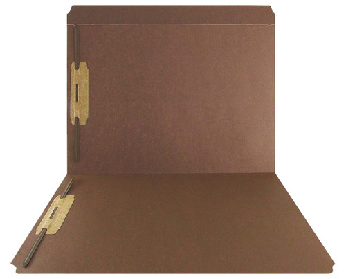 Brown Top Tab Folder - Smead Compatible - 11Pt. Top Tab Reinforced Full Cut -Bonded Fasteners 1&3 - Letter Size - 50/Box
