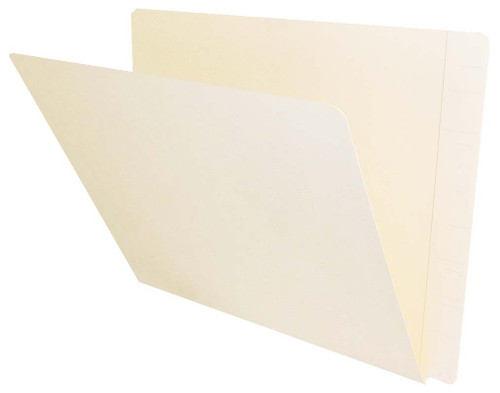 Jeter Compatible End-Tab Folder - 11Pt. Manila End-Tab Letter Full Cut - Reinforced Tab - Bonded Fasteners Positions 3&5 - 50/BX