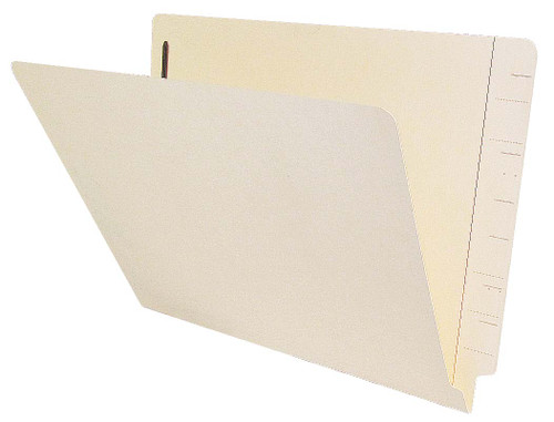 Jeter Compatible End-Tab Folder - 11Pt. Manila End-Tab Letter Full Cut -Reinforced Tab - Bonded Fasteners Position 1&3 - 50/BX