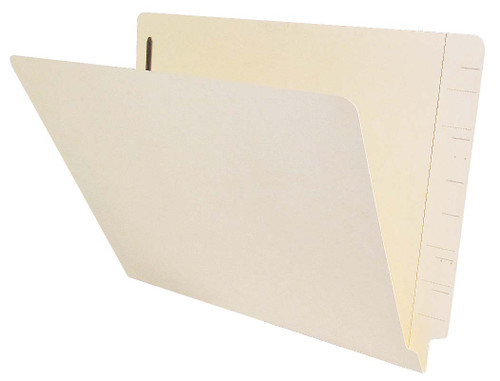 Jeter Compatible End-Tab Folder - 14Pt. Manila End-Tab Letter Full Cut- Reinforced Tab - Bonded Fasteners Position 1 - 50/BX