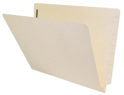 Jeter Compatible End-Tab Folder - 14Pt. Manila End-Tab Letter Full Cut- Single Ply Tab - Bonded Fasteners Positions 1&3 - 50/BX