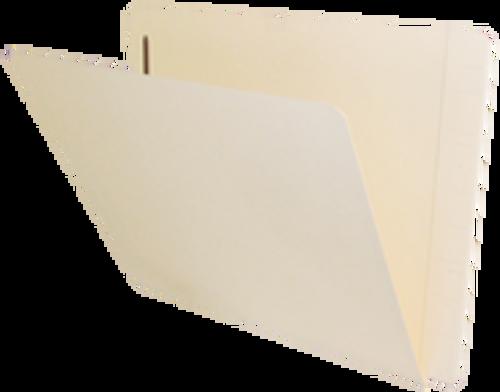 Jeter Compatible End-Tab Folder - 14Pt. Manila End-Tab Letter Full Cut Super Tab - Bonded Fastener Position 1 - 50/BX