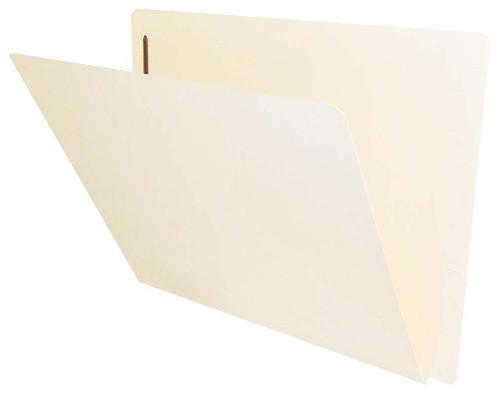 Jeter Compatible End-Tab Folder - 14Pt. Manila End-Tab Letter Full Cut - Single Ply Tab - Bonded Fastener Position 1 - 50/BX