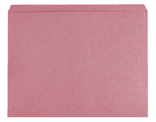 PINK Top-Tab Folder - Smead Compatible - 11Pt. Top Tab Letter Size -  Full Cut -  Reinforced Tab - 100/BX