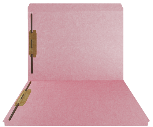 PINK Top Tab Folder - Smead Compatible - Fasteners in Positions 1 & 3 - 11Pt.  Letter Size - Full Cut  Reinforced Tab - 50/BX