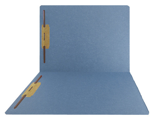 Top-Tab Folder - Smead Compatible - 11Pt. Top Tab Letter Full Cut Position 1 & 3 - Blue- Reinforced Tab - 50/BX