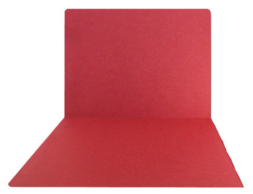 Top-Tab Folder - Smead Compatible - 11Pt. Top Tab Letter Full Cut - Red- Reinforced Tab - 100/BX