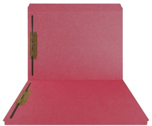 Top-Tab Folder - Smead Compatible - 11Pt. Top Tab Letter Full Cut Position 1 & 3 - Red- Reinforced Tab - 50/BX