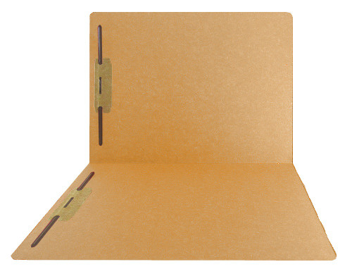 Top-Tab Folder - Smead Compatible - 11Pt. Top Tab Letter Full Cut - Goldenrod- Bonded Fasteners 1&3- Reinforced Tab - 50/BX