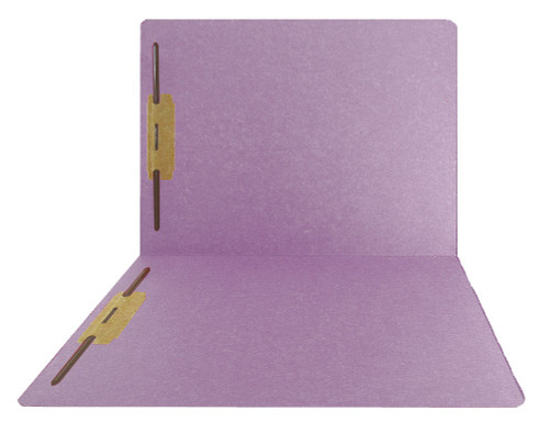 Top-Tab Folder - Smead Compatible - 11Pt. Top Tab Letter Full Cut - Lavender - Bonded Fasteners 1&3- Reinforced Tab - 50/BX