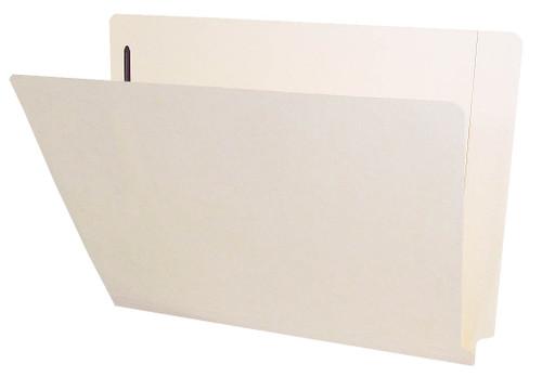 Barkley Compatible Folders - 11pt. Manila End-Tab Letter Full Cut Reinforced Tab - Bonded Fastener Position 1 - 100/BX