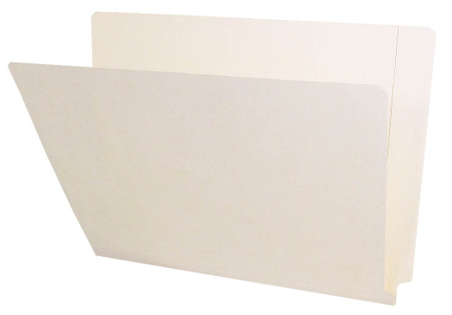 Barkley Compatible Folders - 11pt. Manila End-Tab Letter Full Cut Reinforced Tab - Bonded Fastener Positions 3&5 - 50/BX
