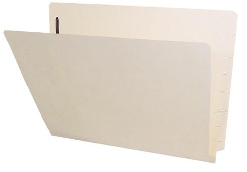 Barkley Compatible Folders - 14pt. Manila End-Tab Letter Full Cut Single Ply Tab - Bonded Fastener Position 1 - 100/BX