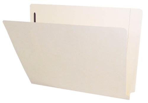 Barkley Compatible Folders - 14pt. Manila End-Tab Letter Full Cut Reinforced Tab - Bonded Fastener Position 1&3 - 50/BX