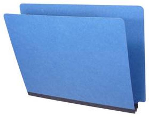 "End Tab Pressboard Folder - 2"" Expansion - Letter Size - No Fasteners - Type 3 Royal Blue"