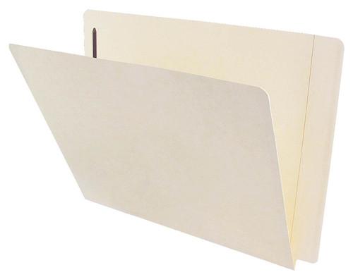 ACME Compatible Folders - 11Pt. Manila End-Tab Letter Full Cut Reinforced Tab- Bonded Fastener Positions 1 - 100/BX