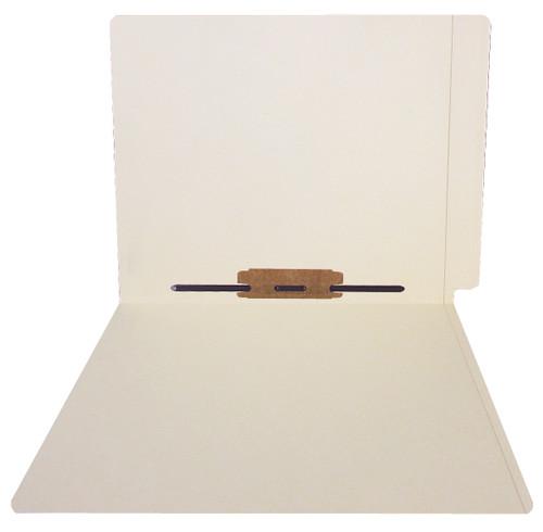 ACME Compatible Folders - 11Pt. Manila End-Tab Letter Full Cut Reinforced Tab- Bonded Fastener Positions 5 - 100/BX