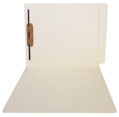 ACME Compatible Folders - 14Pt. Manila End-Tab Letter Full Cut Reinforced Tab- Bonded Fastener Positions 1 - 50/BX