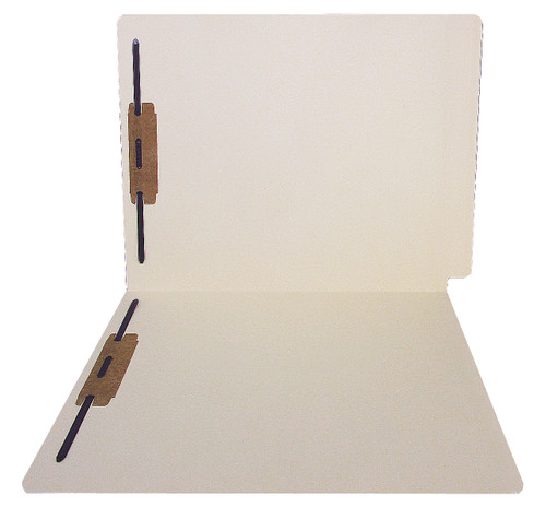 ACME Compatible Folders - 14Pt. Manila End-Tab Letter Full Cut Reinforced Tab- Bonded Fastener Positions 1&3 - 50/BX