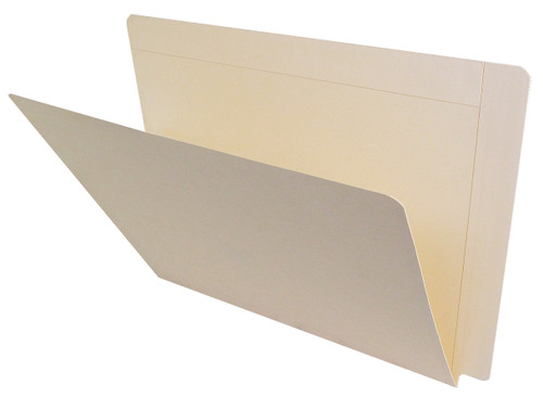 ACME Compatible Folders - 14Pt. Manila End-Tab Letter Full Cut Single Ply Tab Drop Front - 100/BX