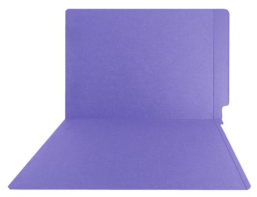 Purple End Tab Folder - Smead Compatible - 14Pt. Letter Full Cut Reinforced Tab - 50/BX