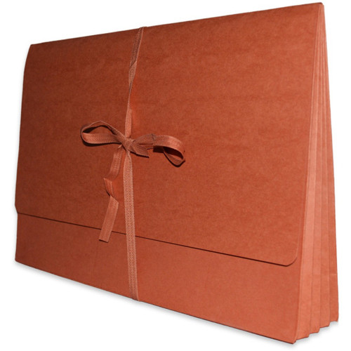 """Redweld File Wallet with 3-1/2"""" Paper Gusset Expansion - Cloth Tie Closure - 10""""H x 15"""" W - 50/Carton"""