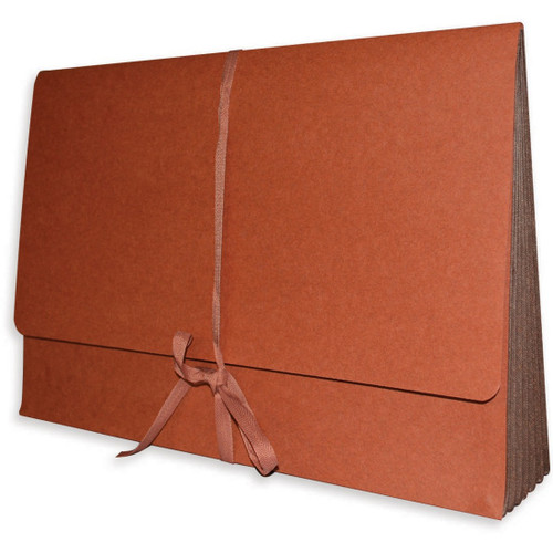"""Redweld File Wallet with 5-1/4"""" Tyvek Expansion - Cloth Tie Closure - 10"""" H x 15"""" W - 50/Carton"""
