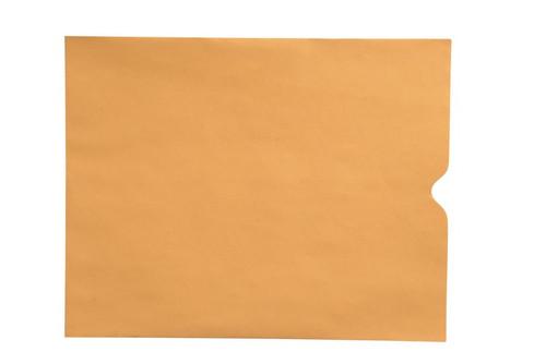 "28lb Brown Kraft Negative Preserver, Open End, Plain - Not Printed, 10-1/2"" x 12-1/2"" (Carton of 500)"
