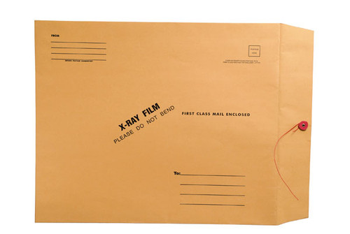 """X-Ray Film Mailers, 32lb Brown Kraft, 15"""" x 18"""", String and Button Closure (Carton of 100)"""