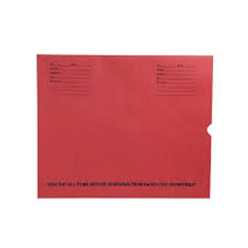 "32lb Red Kraft Negative Preserver, Open End, Standard Imprint, 14-1/2"" x 17-1/2"" (Carton of 500)"