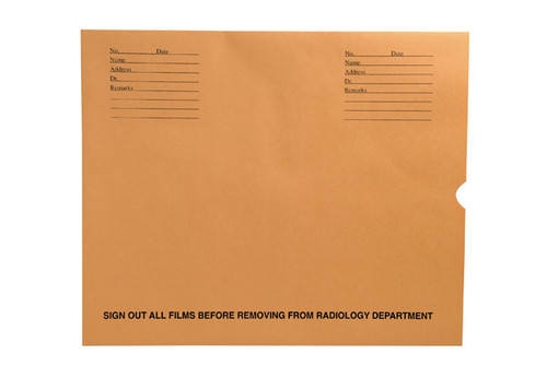"32lb Brown Kraft Negative Preserver, Open End, Standard Imprint, 14-1/2"" x 17-1/2"" (Carton of 500)"