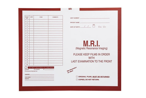 """M.R.I., Rust #180 - Category Insert Jackets, System I, Open Top - 14-1/4"""" x 17-1/2"""" (Carton of 250)"""