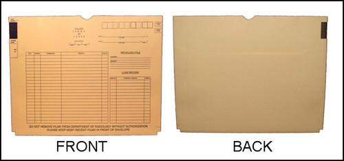 X-Ray Jacket with Back Pocket - 11 pt Manila - Standard Printed - 100/Box