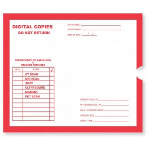 """""""Digital Copy""""  Category Insert Jackets -  White with Red Print - Open End, 250/bx"""