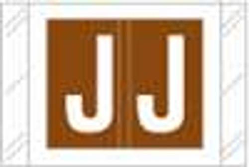 TabbiesAlphabetic Labels - 12000 Series (Rolls) J- Brown