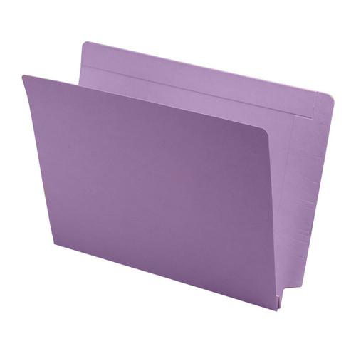 """Expansion Folder - Interlocking Top and End Tab, Letter Size, 14 Pt. Lavender Folder, Full Reinforced Tab, 1-1/2"""" Expansion - 50/Box"""