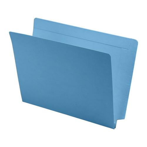 "Expansion Folder - Interlocking Top and End Tab, Letter Size, 14 Pt. Blue Folder, Full Reinforced Tab, 1-1/2"" Expansion - 50/Box"