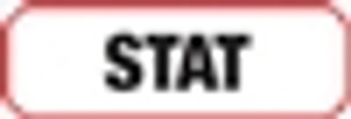 Stat  Label - Non-Laminted - Black Print W/ Red Border