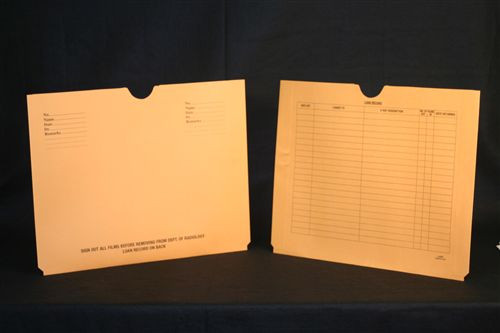 Medical Folder Economy X-Ray Jacket.  10 pt. Brown Kraft.  Expansion = 3/4 inch.  Size 14 1/2 X 18 1/4.  100 Jackets per Carton