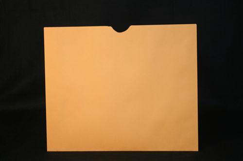 Medical Folder Open Top Negative Preserver-  32 lb. Brown Kraft Stock - Plain No Print - Size 14 1/4 X 17 1/2 - 250/Carton