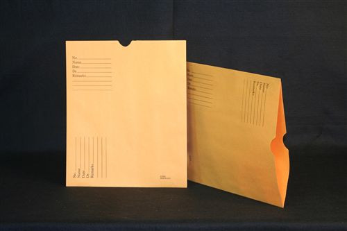 Medical Folder Economy Negative Preservers- Open End.  28 lb. Brown Kraft Stock, 500 Negative Preservers per Carton, Size 10 1/2 X 12 1/2