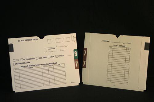 Medical Folder X-Ray Jacket- 11 pt., Manila, Packed 00 - 99 (2 Sets), 200 Jackets per Carton, Size 9 3/4 X 12 3/4