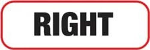 Right Label - Non-Laminted - Black Print W/ Red Border
