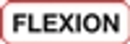 Flexion Label - Non-Laminted - Black Print W/ Red Border