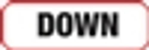 Down Label - Non-Laminted - Black Print W/ Red Border