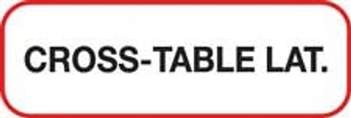 Cross Table Lat Label - Non-Laminted - Black Print W/ Red Border