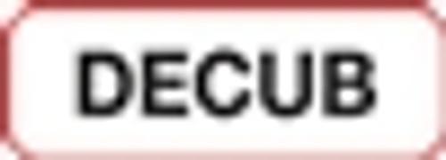 Decub Label - Non-Laminted - Black Print W/ Red Border